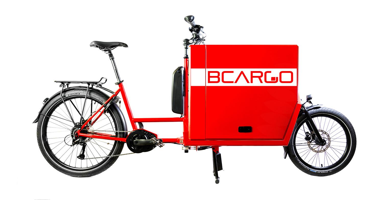 cargo e-bike BCargo con cassone in alluminio per trasporto professionale