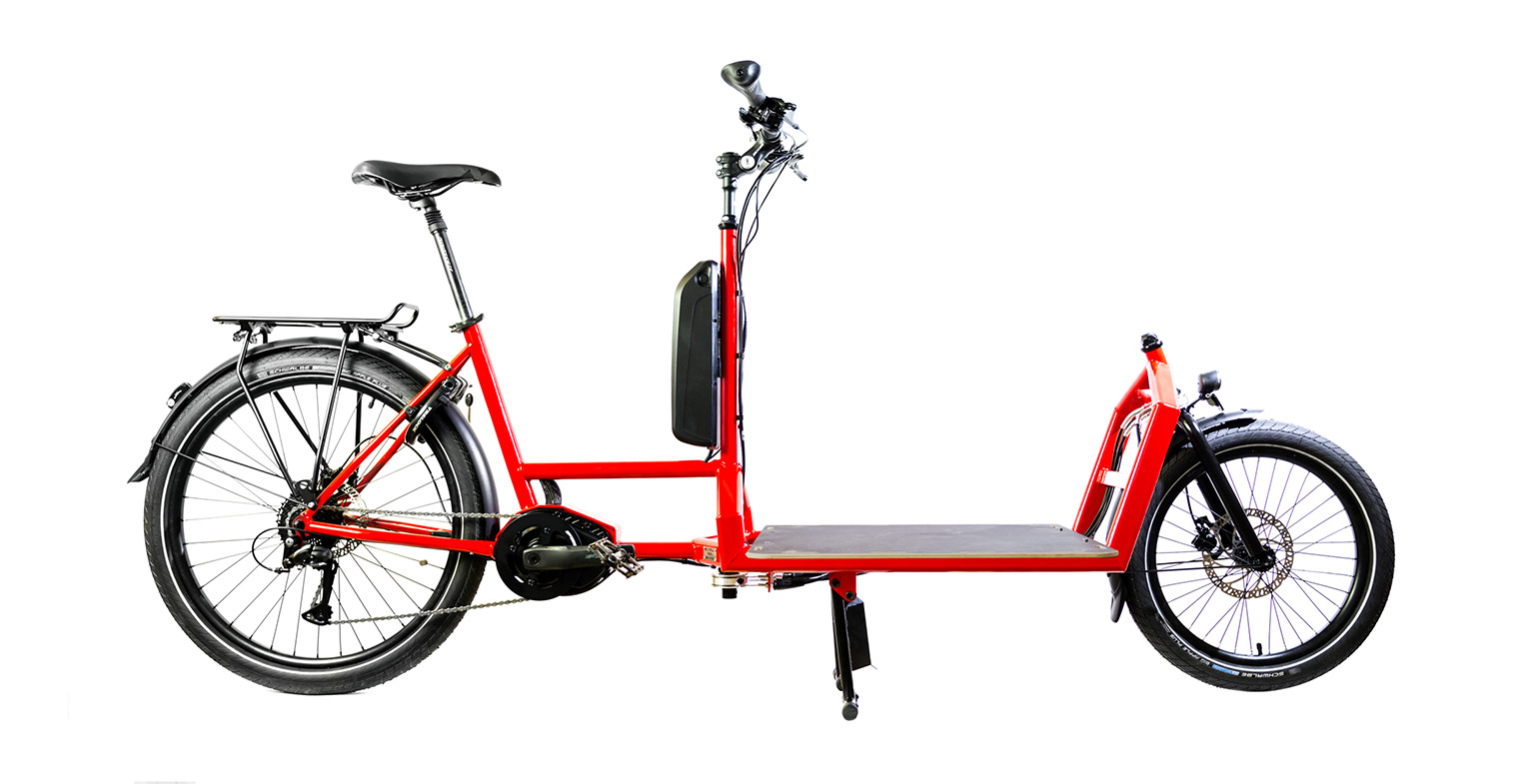 cargo e-bike BCargo con pianale in betulla